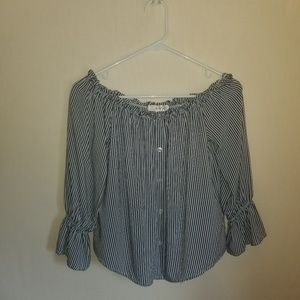 Timing blouse off shoulder stripped small